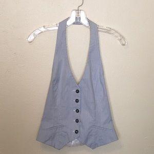 H&M Seersucker Halter Vest Size 4